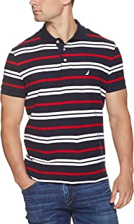 Nautica Men's Short Sleeve Slim Fit Multi Striped Anchor Polo