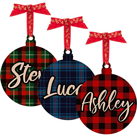 holiday gifts christmas tree christmas decor wood ornaments custom name ornament personalized ornaments Scrabble tile Ornaments