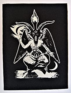 Baphomet Patch - Demonic Pentagram Devil Demon Dragon Evil Goat Skull Goat`s Head Gothic Metal Occult Punk Satan Satanic S...