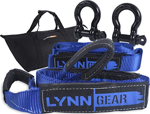 discount LYNN GEAR - 2PK Tow & Recovery Strap (32,000+ LB Break Strength) & D Ring Shackle Combo Kit   (1) 10' Strap, (1) 30' Strap, (2) Shackles & HD Tote   lowest Vehicle Hauling Offroad sale for Pickups, ATV & Trucks! online