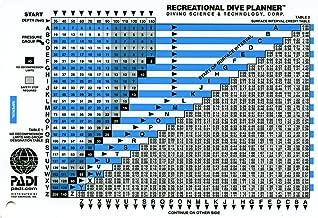 padi recreational dive planner table