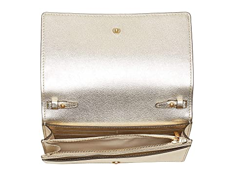 TORY BURCH Wallets , WHITE/GOLD