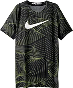 Nike Kids Pro Short Sleeve Printed Training Top (Little Kids/Big Kids)