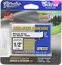 Brother Genuine P-touch TZE-AF231 Tape,1/2