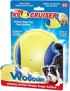 Novel Brands K9 Cruiser: Indoor Dog Toy That Glides, Squeaky Toy, Dog Chew Toys, Small Dogs and Large Dogs