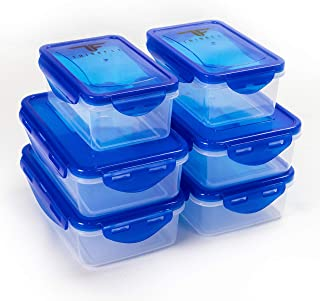 ThinkFit Meal Prep Containers, BPA Free - Airtight Food Storage Containers Best for Meal Prepping & Portion Control - Reusable, Stackable, Microwavable, Dishwasher & Freezer Safe (6 Piece Set)