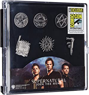 Warner Bros. SDCC 2017 Exclusive - Supernatural Pewter Lapel Pins - 6 Pc Set Novelty Accessory