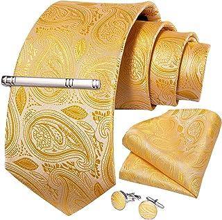 Amazon.es: Amarillo - Corbatas, fajines y pañuelos de bolsillo ...