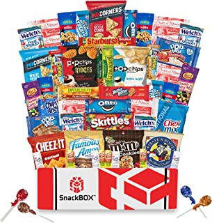 Care Package for College Students, Military, Halloween, Finals or Back to School (50 Count) From Snack Box …