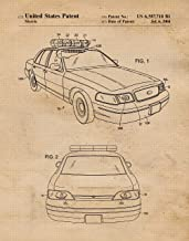 Original Police Car Patent Poster Prints, Set of 1 (11x14) Unframed Photo, Great Wall Art Decor Gifts Under 15 for Home, Office, Garage, Man Cave, Teacher, Officer, Law Enforcement Fan