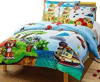 Utopia Bedding Super Soft Jungle Theme Animals Kids Comforter Set - 3 Piece Toddler Bedding Sets for Boys - Full/Queen