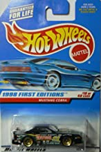 MUSTANG COBRA * BLACK * 1998 FIRST EDITIONS SERIES #18 of 40 HOT WHEELS Basic Car 1:64 Scale Series * Collector #665 *
