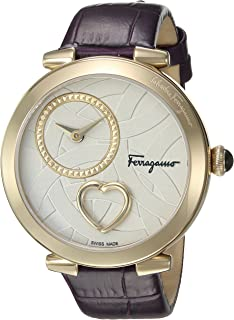 Salvatore Ferragamo Timepieces Homme Chronographe Quartz Montre avec Bracelet en Caoutchouc F55LCQ75909S113
