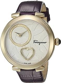 Salvatore Ferragamo Women's 'CUORE' Swiss Quartz Stainless Steel Casual Watch, Color:Purple (Model: FE2090016)