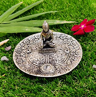 WC_ Buddha Incense Burner Holder Statue Plate Decorative Items for Home and Living Room   Buddha Plate with Bag
