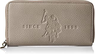 US Polo Womens Large Zip Around Wallet, Grey - BIUCS0682WVP100