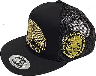 Mexico 2 Logos San Luis Potosí logo federal New Eagle Emb. Hat Black Mesh