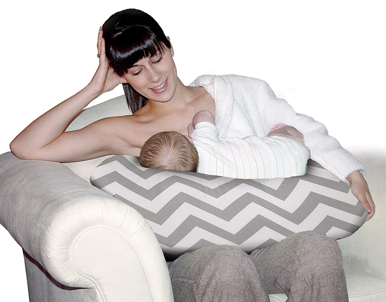 Jolly Jumper Baby Sitter Cushion, Chevron Grey, One Size