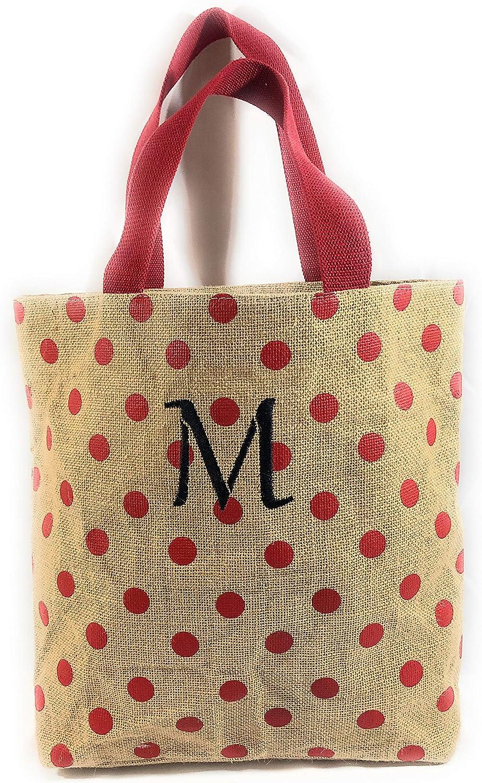 AARON Red Polka Dot Fabric Tote Bag