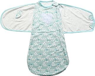 JanLEESi Baby Sleeping Bag Cotton Swaddle Sack Wearable Blanket (3-12 Months),Green