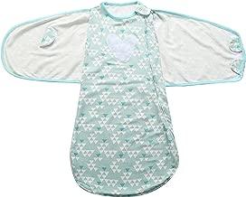 JanLEESi Baby Sleeping Bag Cotton Swaddle Sack Wearable Blanket (3-12 Months)