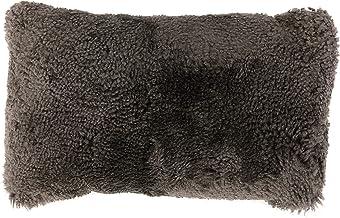 Bloomingville Charcoal New Zealand Lamb Fur Lumbar Pillow