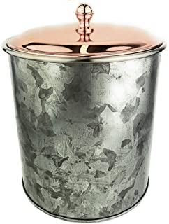 Galrose ICE BUCKET Galvanized Iron - Rose Gold Lid Insulated Stainless Steel Double Wall Wine Chiller/Champagne Bucket/Wine Cooler Bucket/Bar Ice Container 6th Wedding Anniversary Gifts for Couple