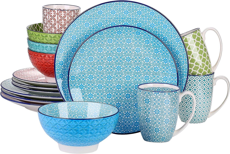 vancasso Series Macaron trend rank Porcelain Dinnerware 16 Set pieces Di Omaha Mall