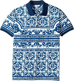 Dolce & Gabbana Kids - Capri Maiolica Polo (Big Kids)