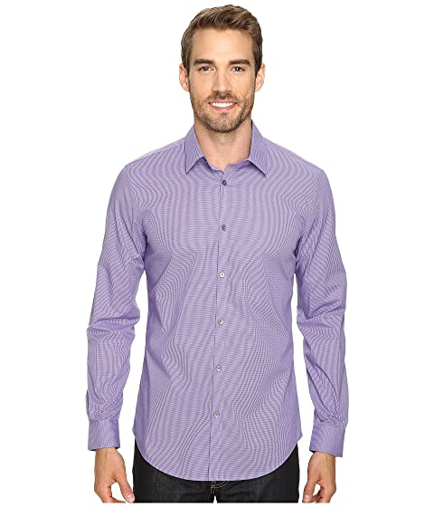 Slim Fit Long Sleeve Infinite Cool Button Down Micro Check Shirt