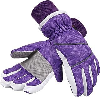 SimpliKids Girl's Waterproof Thinsulate Insulation Ski & Snowboard Gloves