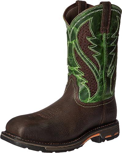 Ariat - Chaussures de Travail Workhog Venttek Comp Toe Western Hommes, 43 M EU, Bruin marron Grass vert
