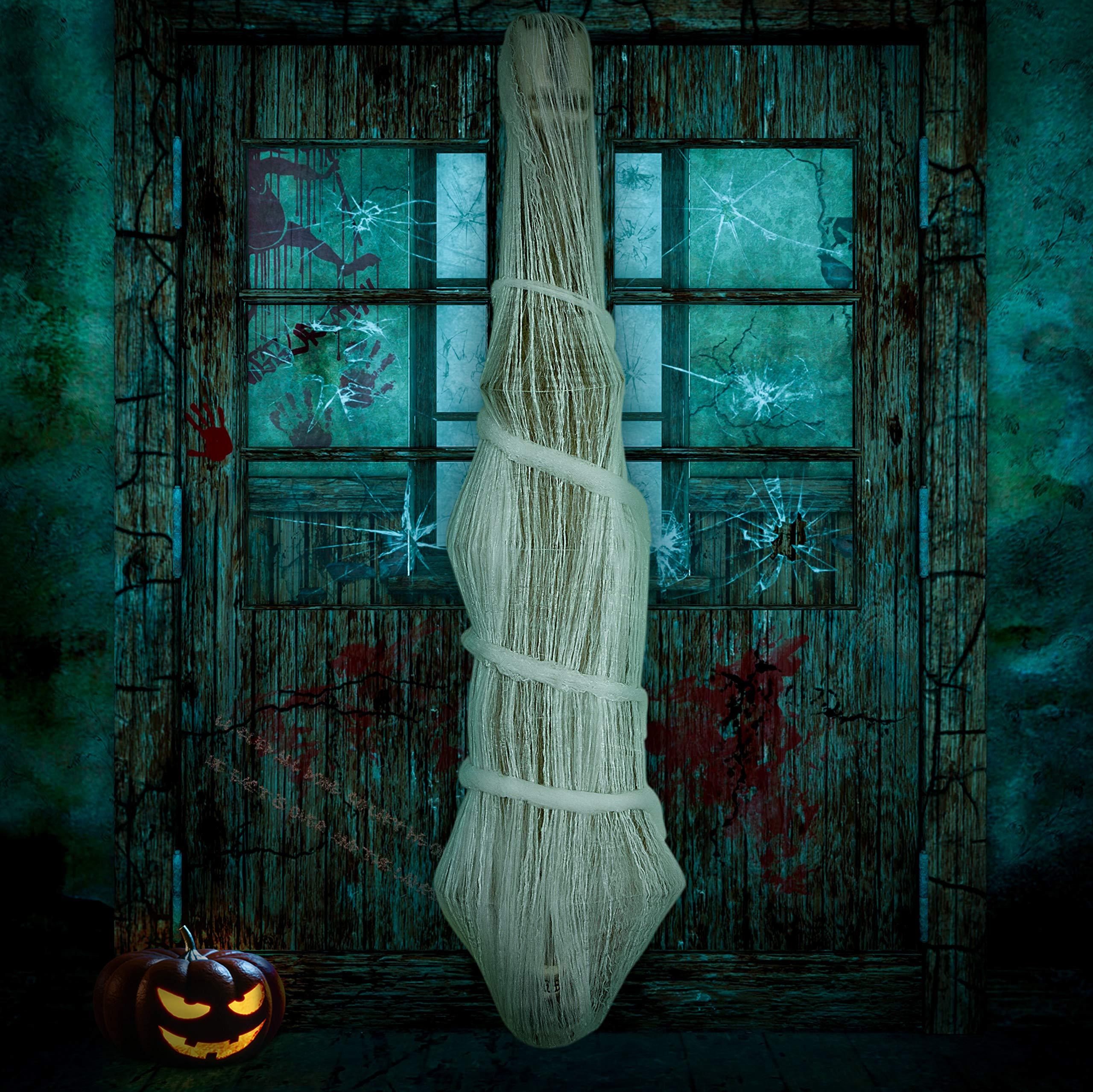 Amazon Com Jollylife Cocoon Corpse Halloween Decorations Hallomas Party Indoor Outdoor Creepy Hanging Haunted House Props Spooky Tree Decor 68 Inches Garden Outdoor