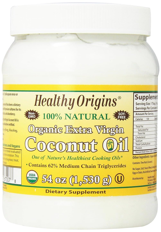予防接種する補う打ち上げる海外直送品Organic Extra Virgin Coconut Oil, 54 Oz by Healthy Origins