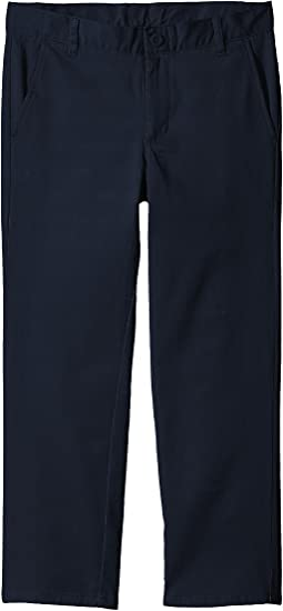 Husky Flat Front Twill Stretch Pants (Big Kids)