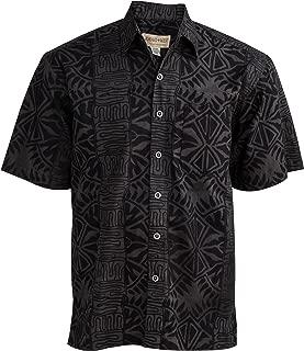 Geometric Forest Tropical Hawaiian Batik Shirt