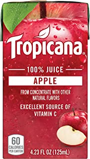 Tropicana 100% Juice Box, Apple Juice, 4.23oz, 44 Count