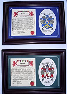 Family History and Hand Painted Coat Of Arms.