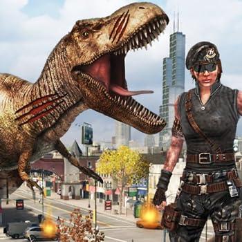 Dinosaur Hunting City Attack