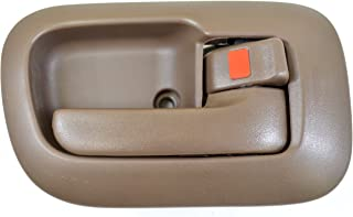 PT Auto Warehouse TO-2530B-RS - Inside Interior Inner Door Handle/Trim, Brown - Passenger Side Front