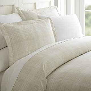 ienjoy Home 3 Piece Thatch Patterned Home Collection Premium Ultra Soft Duvet Cover Set, Queen, Ray