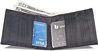 Slim Nylon Minimalist front pocket Sport Wallet - Black
