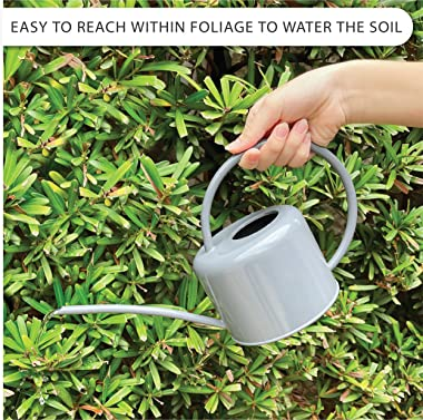LOOPSEED Metal Watering Can for Indoor Houseplants and Outdoor Plants Water Kettle for Succulents Herb Bonsai Garden Urban Ga