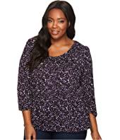MICHAEL Michael Kors - Plus Size Leaf Print Peasant Top