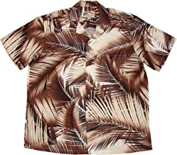 product image for Paradise Found Men's Palm Breeze Hawaiian Shirt, Brown, 3X