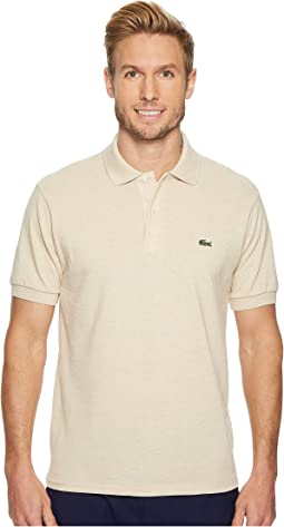 Short Sleeve Classic Fit Chine Pique Polo Shirt