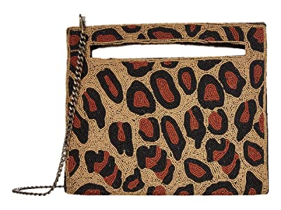 Sam Edelman Esma Beaded Clutch (Cheetah) Handbags