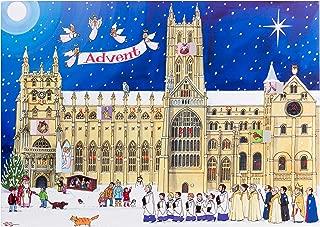 Alison Gardiner Famous Illustrator Unique Traditional Advent Calendar  - Designed in England - Festive Scene at a Cathedral