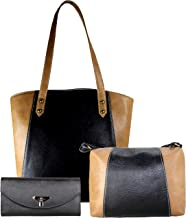 Fargo Motley PU Leather Women's Handbag With Sling Bag And Hand Clutch Combo Of 3 (FGO-158)
