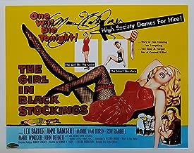 Mamie Van Doren Signed The Girl In Black Stockings 11x14 Photo OCD Hologram E